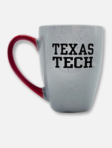 TexasTexas Tech Red Raiders Tech Football Font and Pride Logo on Front with Red Handle Coffee Mug