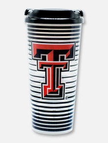 Texas Tech Red Raiders Double T Striped Tumbler