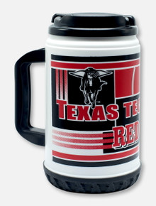 Texas Tech Red Raiders Double T with Masked Rider Travel Coffee Mug