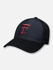"Top of the World Texas Tech Red Raiders Double T ""McGavin"" Black Stretch Fit Cap"