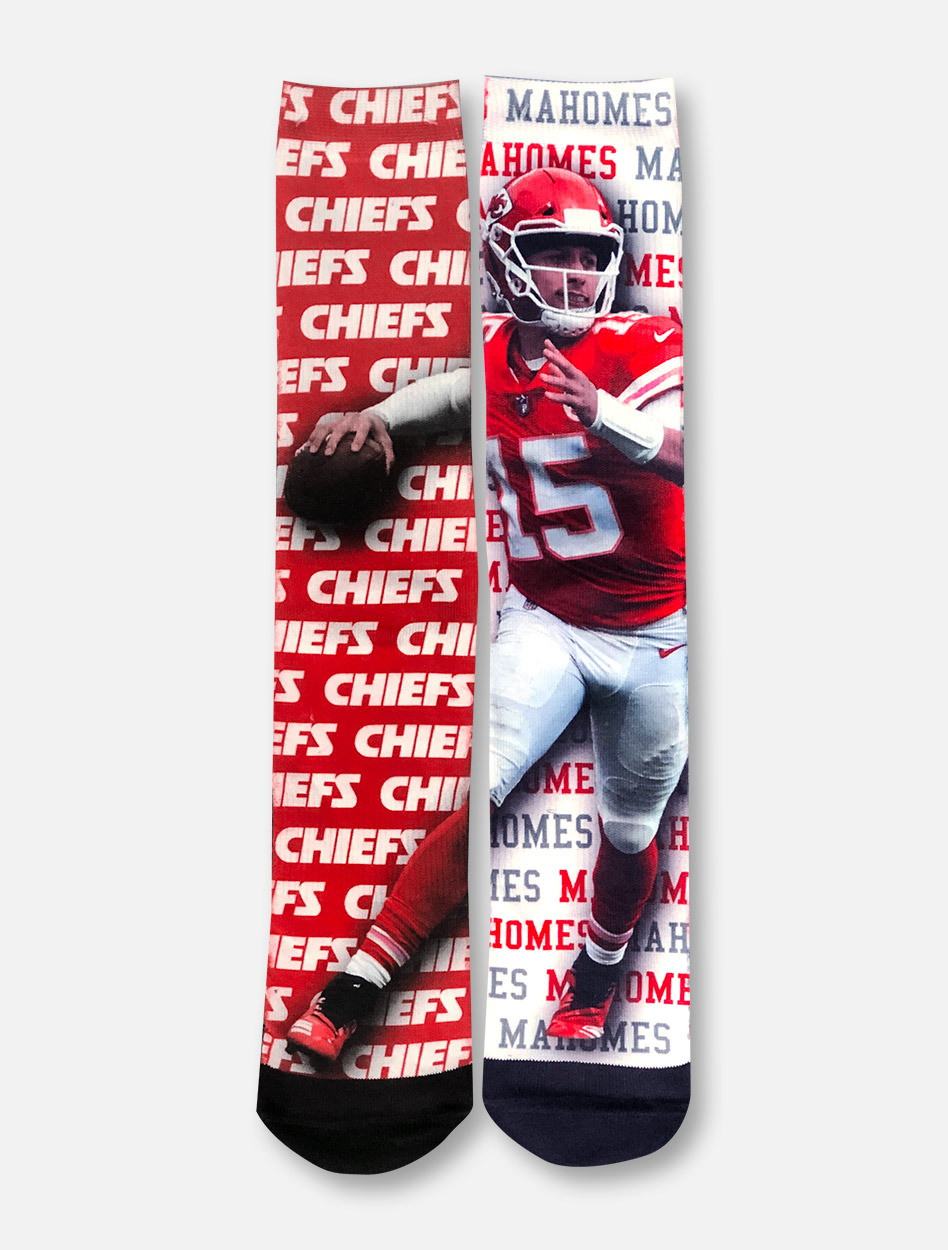 competitive price d3aaf cc336 Texas Tech Red Raiders Kansas City Chiefs Patrick Mahomes YOUTH Socks