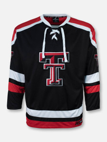 "Arena Texas Tech Red Raiders ""Mr. Plow"" Black Hockey Jersey"