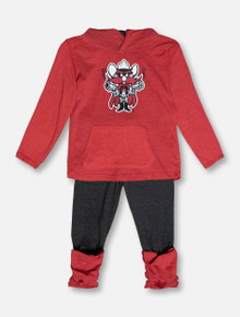 "Arena Texas Tech Red Raiders ""Minerva"" TODDLER Hooded Long Sleeve & Leggings Set"