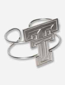 Texas Tech Large Double T Sterling Silver Cuff Bracelet