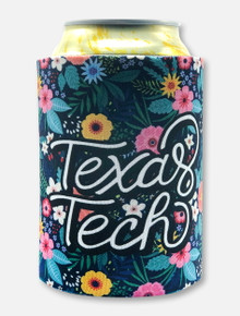 Texas Tech Double T Floral Garden Can Cooler