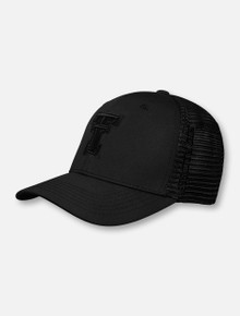 "Top of the World Texas Tech Red Raiders ""Chatter"" Black Tonal Double T Memory Stretch Fit Cap"