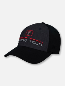 "Top of the World Texas Tech Red Raiders Double T ""Tag"" Patch Over Two-Tone Stretch Fit Cap"