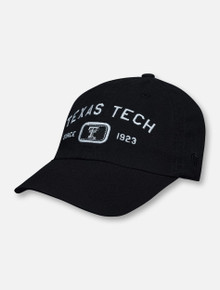 """Top of the World Texas Tech Double T """"Intellect"""" Arch Over Black and White Since 1923 Adjustable Cap"""