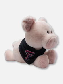 Texas Tech Red Raiders Pig Plush Toy with Double T Bandana