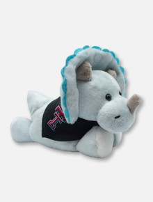 Texas Tech Red Raiders Triceratops Plush Toy with Double T Bandana