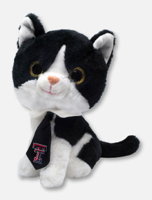 Texas Tech Red Raiders Tuxedo Glitter Cat with Double T Necktie