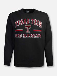 "Arena Texas Tech Red Raiders ""Comic Book"" Black Crewneck Sweatshirt"