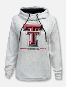"Arena Texas Tech Red Raiders ""Lily"" Stripe Funnel Hoodie"