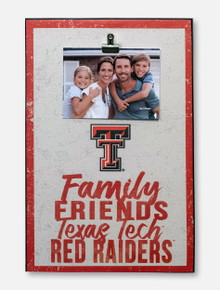 Texas Tech Red Raiders Family Friends Clip Canvas Sign