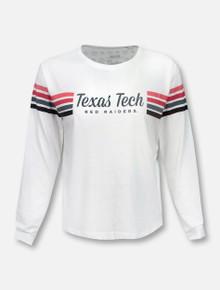 "Pressbox Texas Tech Red Raiders ""Sandra"" Long Sleeve Crop Top T-Shirt"
