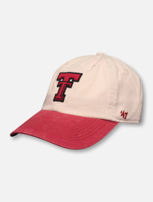 """47 Brand Texas Tech Red Raiders """"Rivington"""" Two Tone Throwback Double T Adjustable Cap"""