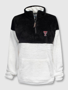 Summit Texas Tech Red Raiders Double Plush Color Block Sherpa 1/4 Pullover