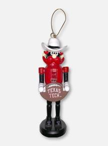 Texas Tech Red Raiders Raider Red Mascot Nutcracker with Football Ornament