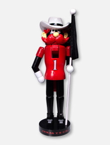 Texas Tech Red Raiders Raider Red Mascot with Flag Nutcracker