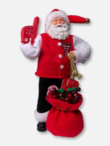 Texas Tech Red Raiders #1 Foam Finger Santa FIgurine