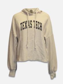 Summit Texas Tech Red Raiders Ribbed Cord Crop Top Hoodie