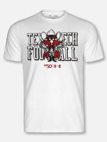 "Under Armour Texas Tech Red Raiders ""Raider Red Stack"" NCAA 150 White T-Shirt"
