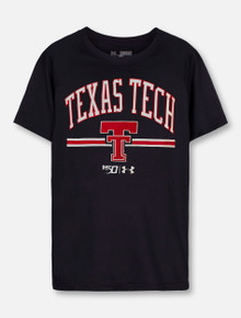 "Under Armour Texas Tech Red Raiders ""Throwback 150"" Black  YOUTH Short Sleeve T-Shirt"