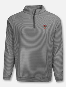 "Peter Millar Texas Tech Red Raiders ""Perth"" Striped 1/4 Zip Pullover"