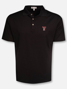 "Peter Millar Texas Tech Red Raiders ""Solid"" Black Polo"