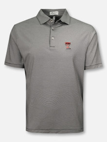 "Peter Millar Texas Tech Red Raiders ""Jubilee"" Striped Red Polo"