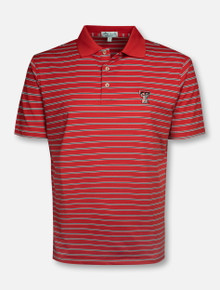 "Peter Millar Texas Tech Red Raiders ""Senior"" Striped Red Polo"