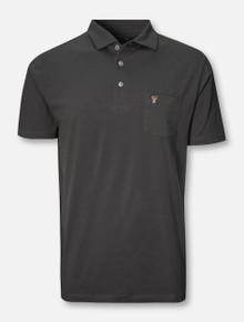 "Peter Millar Texas Tech Red Raiders ""Solid"" Mini Double T Pocket White Polo"