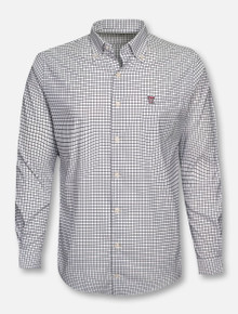 "Peter Millar Texas Tech Red Raiders ""Tattersall"" Mini Double T Long Sleeve Dress Shirt"