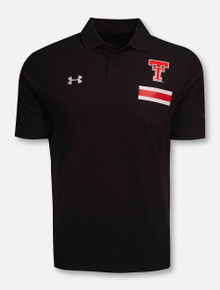 "Under Armour Texas Tech Red Raiders ""Originators"" Pique Pocket Black Polo"