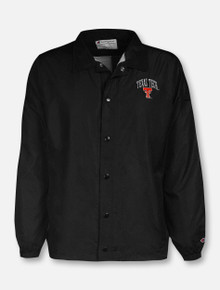 """Champion Texas Tech Red Raiders """"Coaches"""" Snap Front Jacket"""