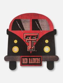Texas Tech Red Raiders Team Bus Wood Sign
