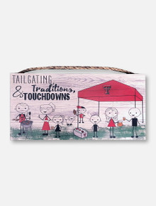 "Texas Tech Red Raiders ""Tailgating & Traditions"" Wooden Wall Art"