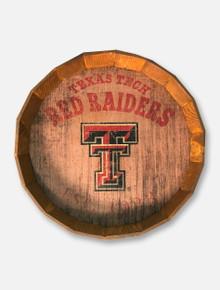 Texas Tech Red Raiders Established 1923 Barrel Top Wood Art
