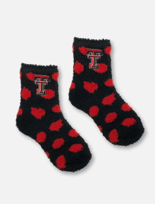 ZooZatz Texas Tech Red Raiders Reverse Polka Dot Socks