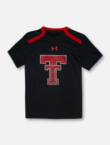 """Under Armour Texas Tech Red Raiders """"Throwback Warm-Up"""" Black YOUTH Short Sleeve T-Shirt"""