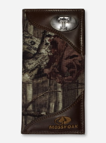 Texas Tech Double T Emblem on Roper Mossy Oak Camo Wallet
