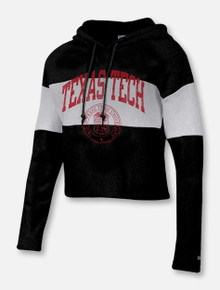"Champion Texas Tech Red Raiders ""Old College"" Reverse Weave Crop Hoodie"
