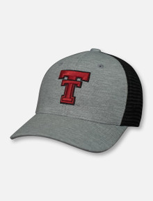 "Top of the World Texas Tech Red Raiders ""Cutter"" Throwback Double T Grey Snapback Cap"