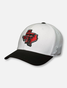 "Top of the World Texas Tech ""Infield"" Pride Logo White Fitted Cap"