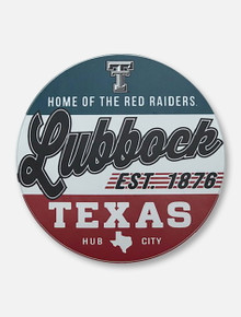 """Texas Tech """"Home of the Red Raiders"""" Lubbock Circle Decal"""