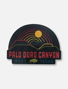 Texas Tech Palo Duro Canyon Sunset Over Rainbow Decal