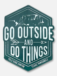 "Texas Tech ""Go Outside and Do Things"" Palo Duro Decal"