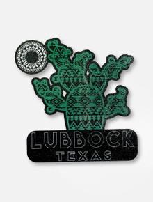 Texas Tech Lubbock Texas Green Cactus Decal