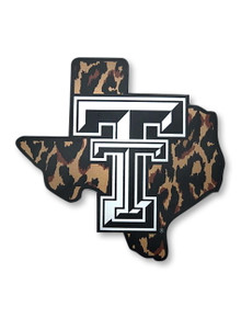 Texas Tech Red Raiders Double T on Cheetah State Decal