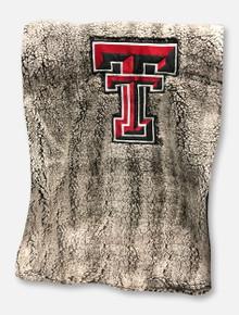 Summit Texas Tech Red Raiders Heathered Sherpa Throw Blanket